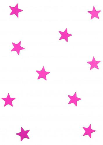 10 Mini miroirs étoiles fuchsia 3 x 3 cm