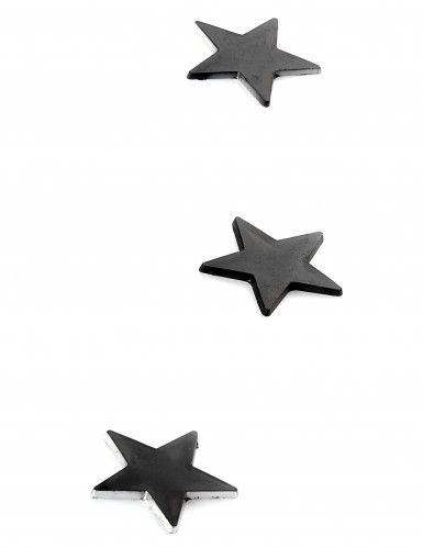 10 Mini miroirs étoiles noirs 3 x 3 cm-1