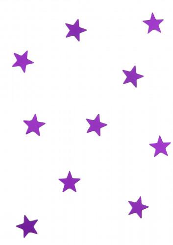 10 mini miroirs étoiles violets