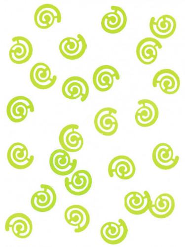 Confettis de table spirales vertes 10 gr