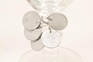 10 Décorations pour verre argent