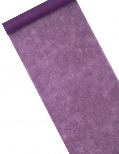 Chemin de table intissé violet 29 cm x 10 m