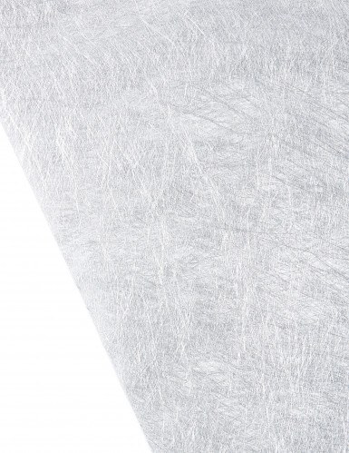 Chemin de table intissé métallisé argenté 30 cm x 5 m-1