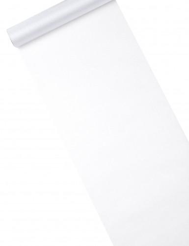 Chemin de table organza brillant blanc 28 cm x 5 m