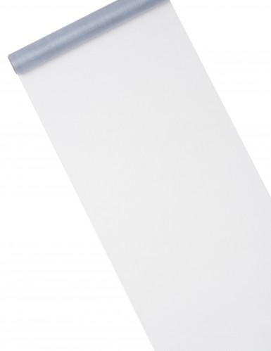 Chemin de table organza brillant gris 28 cm x 5 m