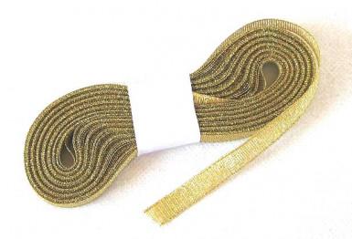 Ruban aspect métallisé or 6 mm x 10 m