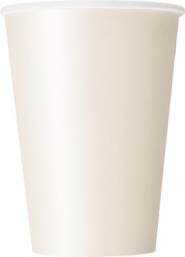 10 Gobelets en carton ivoires 355ml