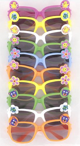 10 Lunettes couleurs avec pin's