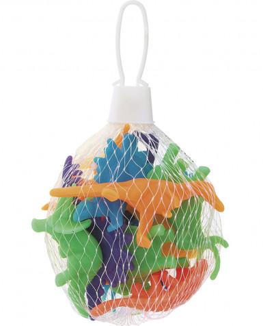 12 Dinosaures miniatures en plastique multicolores 5 cm