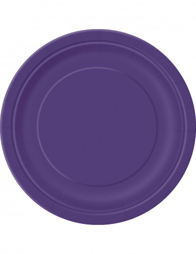 16 Grandes assiettes en carton violettes