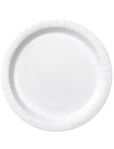 16 Assiettes en carton blanches 23 cm