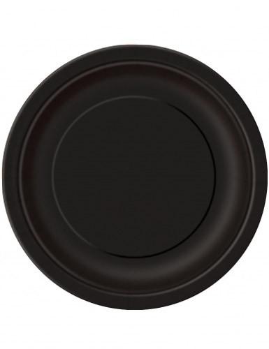 16 Assiettes en carton noires 22 cm