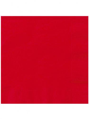 20 Serviettes en papier rouges 33 x 33 cm
