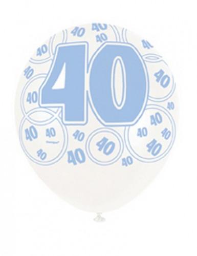 Ballons bleus Age 40 ans