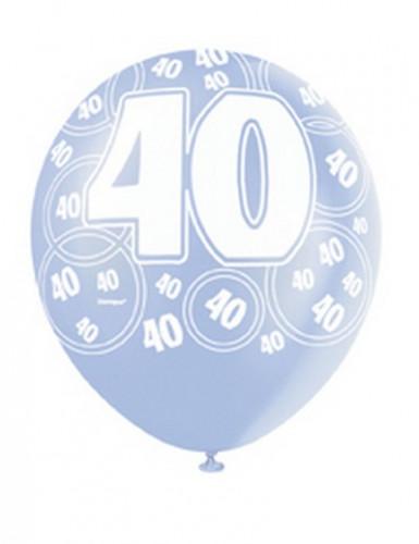 Ballons bleus Age 40 ans-1