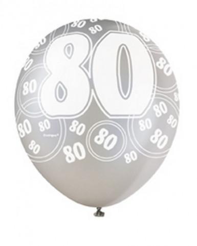 Ballons gris 80 ans