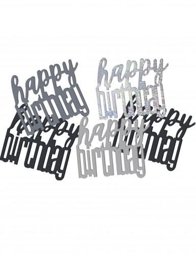 Confettis gris/noir Happy Birthday
