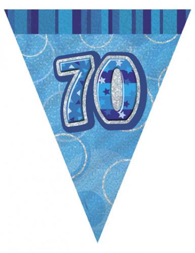 Guirlande Fanions bleue Age 70 ans