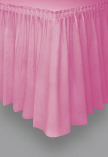 Jupe de table rose en plastique