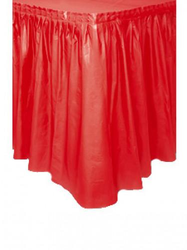 Jupe de table rouge en plastique