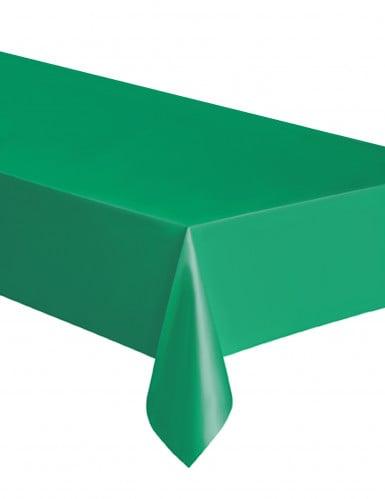 Nappe rectangulaire en plastique vert émeraude 137 x 274 cm