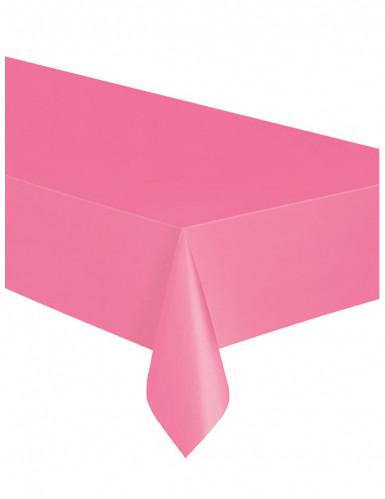 Nappe rectangulaire rose en plastique-1