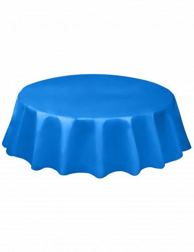 nappe ronde en plastique bleue 213 cm d coration anniversaire et f tes th me sur vegaoo party. Black Bedroom Furniture Sets. Home Design Ideas