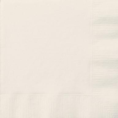 50 Serviettes en papier ivoire 33 x 33 cm