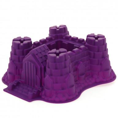 Moule à gâteaux violet forme château