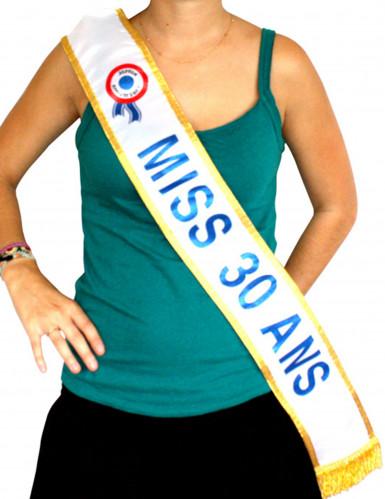 Echarpe bleue Miss 30 ans
