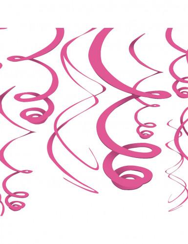 12 Décorations à suspendre rose