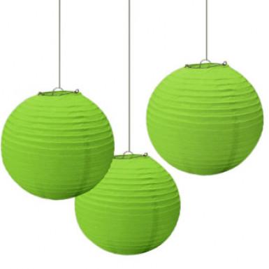 3 Lanternes vertes