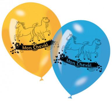 6 ballons imprimés Mon Cheval