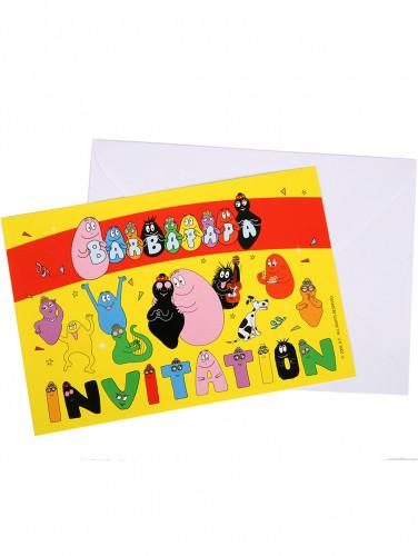 6 cartes d'invitation avec enveloppes Barbapapa™