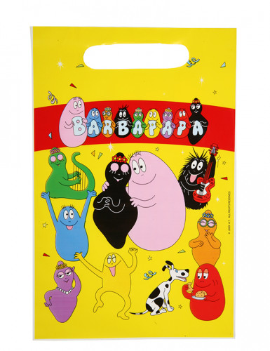 6 Sacs à bonbons en plastique Barbapapa™