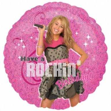 Ballon aluminium rond Hannah Montana™