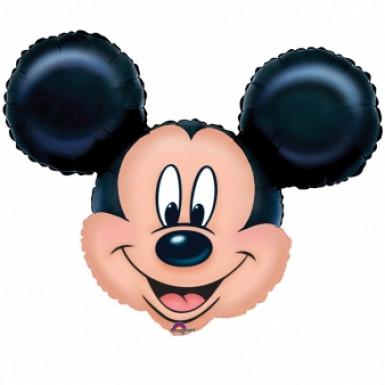 Ballon aluminium visage Mickey Mouse™ 69 x 53 cm