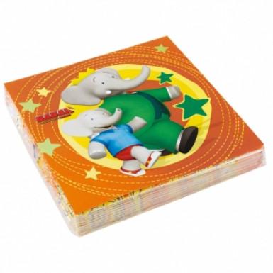 20 Serviettes en papier Babar™ 33 x 33 cm