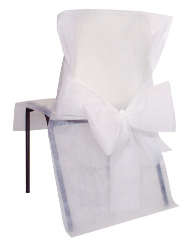 10 Housses de chaise Premium blanches 50 x 95 cm