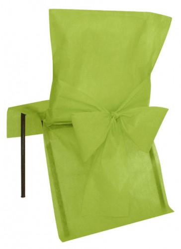10 Housses de chaise Premium vertes 50 x 95 cm