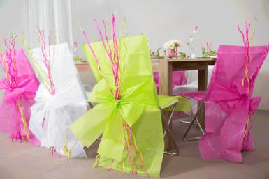 10 Housses de chaise Premium vertes 50 x 95 cm-2