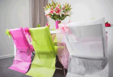 10 Housses de chaise Premium vertes 50 x 95 cm-1