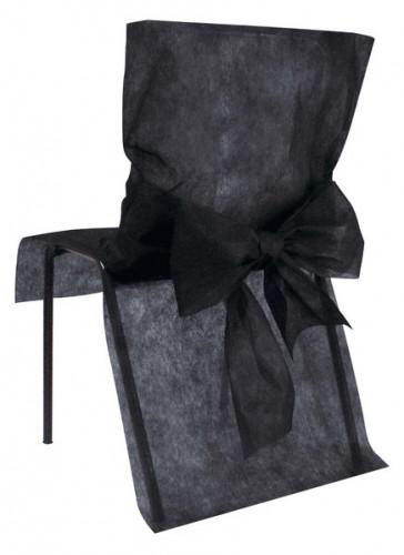10 Housses de chaise Premium noires 50 x 95 cm