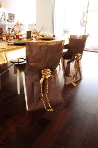 10 Housses de chaise Premium chocolat 50 x 95 cm-2