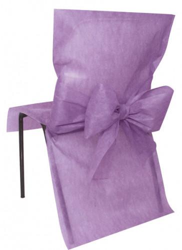 10 Housses de chaise Premium parme 50 x 95 cm