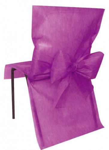 10 Housses de chaise Premium prune 50 x 95 cm