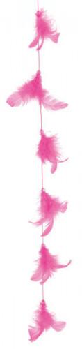 Guirlande plume fuchsia