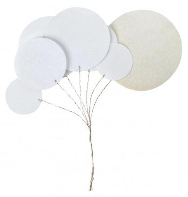 Bouquet métallique blanc
