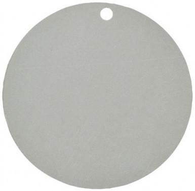 10 Marque-places en carton argents 4,7 cm