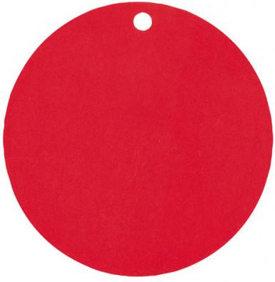 10 Marque-places en carton rouges 4,7 cm